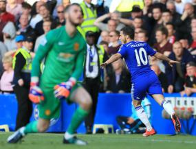 Hazard puts Blues on brink of title