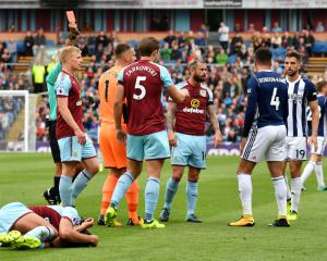 Robson-Kanu pleads innocence after red card in West Brom win at Burnley