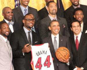 President Obama honors NBA champions Miami Heat at White House