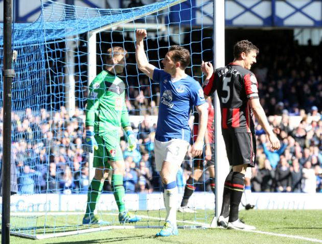Leighton Baines gives Everton victory as Roberto Martinez protests gather pace