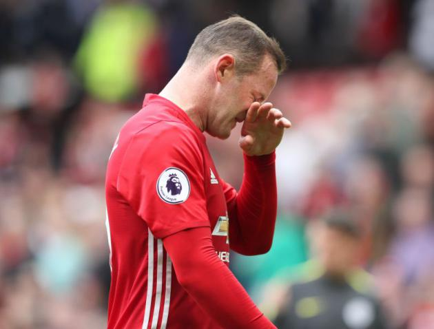 Wayne Rooney dropped to the bench for Manchester United's game against Leicester
