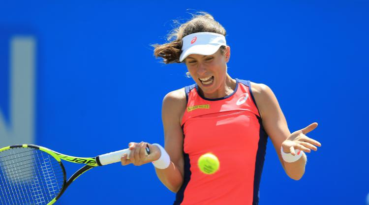 Johanna Konta cruises to Nottingham Open semis as fine grass form continues