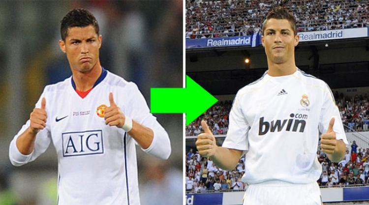 Top 10: Ronaldo, Kaka and Figo feature in the most profitable transfers ever