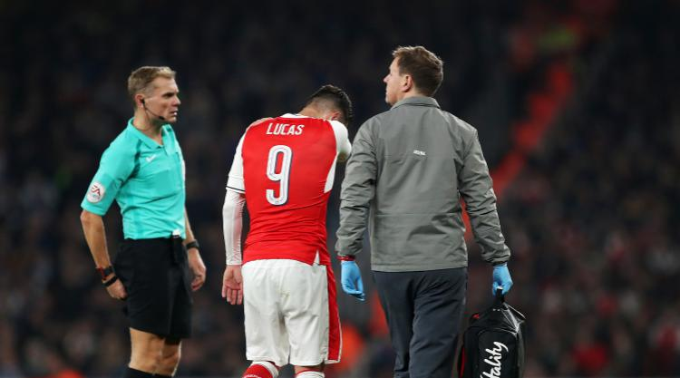 Arsene Wenger condemns 'stupid' tackle as Lucas Perez faces long Arsenal absence