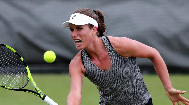 Johanna Konta books second-round place at Wimbledon