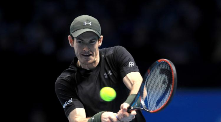 Helped by key double-fault, Murray tops del Potro in Paris