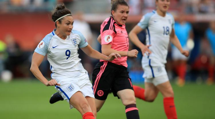 Hat-trick for Arsenal's Taylor as England hit Scots for six