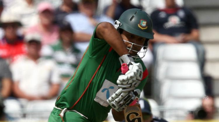 Rain thwarts Tamim's hundred bid against Ireland