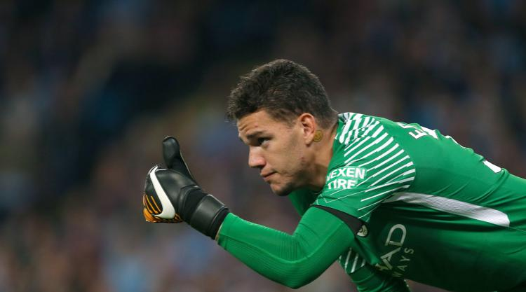Ederson returns to Manchester City training wearing protective helmet