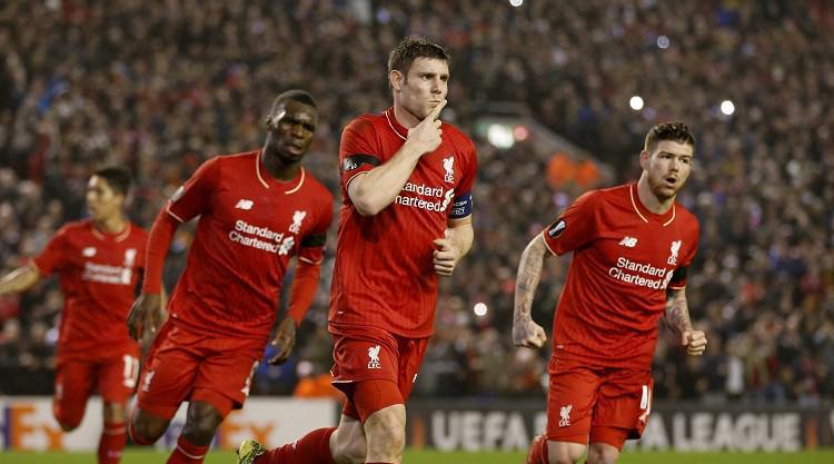 Christian Benteke on form as Liverpool seal Europa League progress
