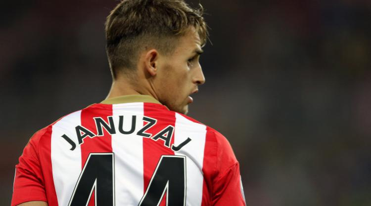 Sunderland winger Adnan Januzaj has been ruled out for a minimum of six weeks