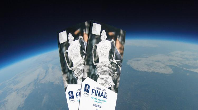These FA Cup final tickets were sent into space