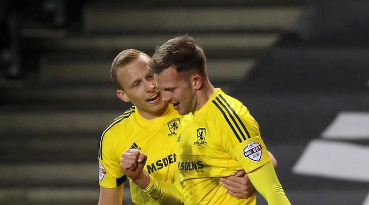 Jordan Rhodes' first goal for Middlesbrough earns draw at MK Dons