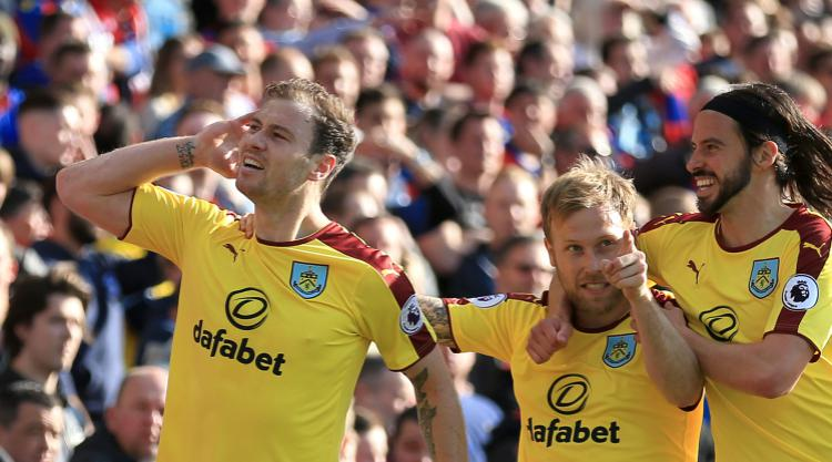Burnley move towards safety with win against Crystal Palace
