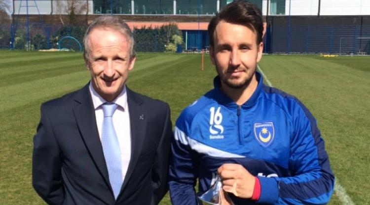 Portsmouth's Matt Tubbs presented with PFA Fans' Player of the Month award